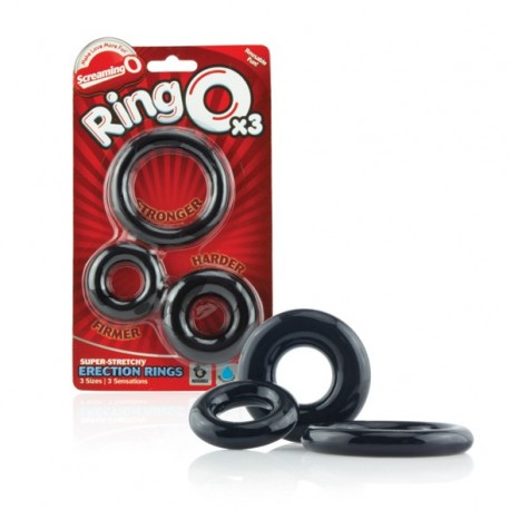Trzypak pierścieni - The Screaming O Ringo 3-Pack
