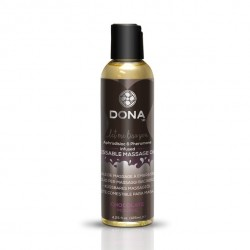 Jadalny olejek do masażu - Dona Kissable Massage Oil Chocolate Mousse Czekoladowy