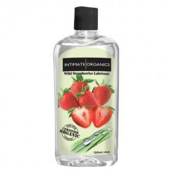 Środek nawilżający - Intimate Organics Wild Strawberries Lube 120 ml Truskawki