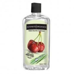 Środek nawilżający - Intimate Organics Wild Cherries Flav Lube 120 ml Czereśniowy