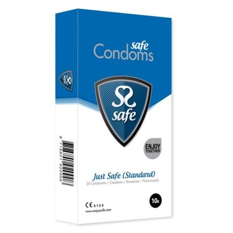 Prezerwatywy klasyczne - Safe Just Safe Condoms Standard 10 szt