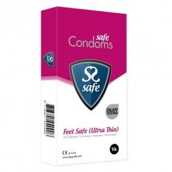 Prezerwatywy ultra cienkie - Safe Feel Safe Condoms Ultra-Thin 10 szt
