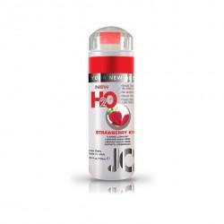 Lubrykant smakowy wodny - System JO H2O Lubricant Strawberry 120 ml, Truskawka