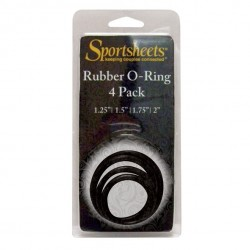 Pierścienie do strap-on - Sportsheets O-Rings Set 4 Assorted Sizes