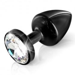 Plug analny zdobiony - Diogol Anni Butt Plug Round Black 35 mm Czarny