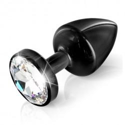 Plug analny zdobiony - Diogol Anni Butt Plug Round Black 30 mm Czarny