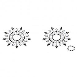 Biżuteria na piersi - Petits Joujoux Gloria Black & Silver Czarna ze Srebrem