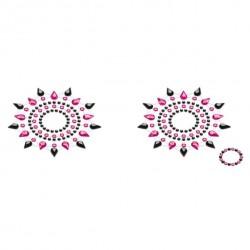 Biżuteria na piersi - Petits Joujoux Gloria Black & Pink Czarna z Różem
