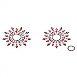Biżuteria na piersi - Petits Joujoux Gloria Black & Red Czarna z Czerwienią