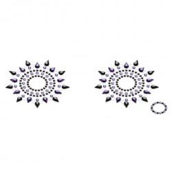 Biżuteria na piersi - Petits Joujoux Gloria Black & Purple Czarna z Fioletem