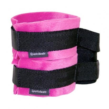 Kajdanki - Sportsheets Kinky Pinky Cuffs with Tethers