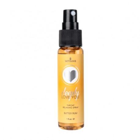 Spray rozluźniający gardło - Sensuva Throat Relaxing Spray Butter Rum