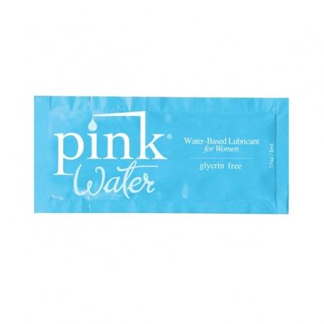 Wodny środek nawilżający - Pink Water Water Based Lubricant 5 ml