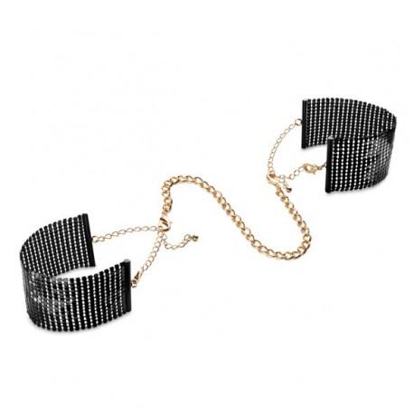 Kajdanki - Bijoux Indiscrets Désir Métallique Cuffs Black Czarne