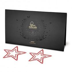 Nakładki na sutki - Bijoux Indiscrets Star Red Gwiazda Czerwona