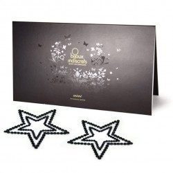 Nakładki na sutki - Bijoux Indiscrets Mimi Star Black Gwiazda Czarna