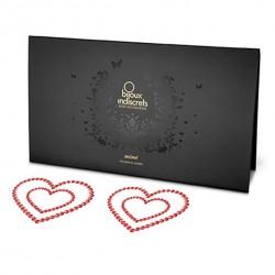 Nakładki na sutki - Bijoux Indiscrets Mimi Heart Red Serce Czerwone