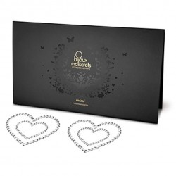 Nakładki na sutki - Bijoux Indiscrets Mimi Heart Silver Serce Srebrne