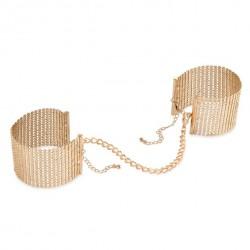 Kajdanki - Bijoux Indiscrets Désir Métallique Cuffs Gold Złote