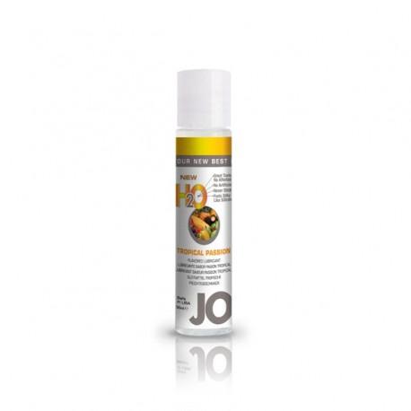 Lubrykant smakowy wodny - System JO H2O Lubricant Tropical 30 ml, Owoce tropikalne