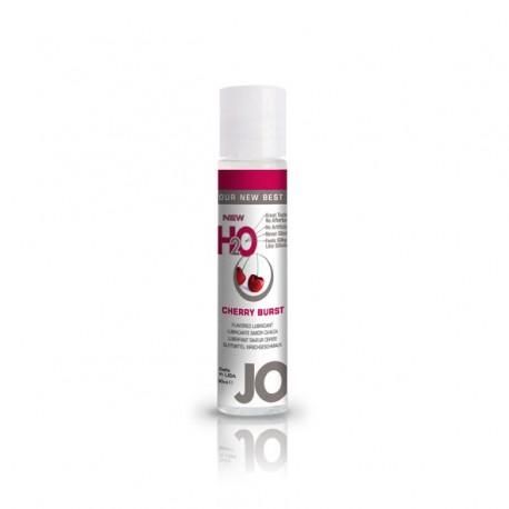 Lubrykant smakowy wodny - System JO H2O Lubricant Cherry 30 ml, Czereśnia