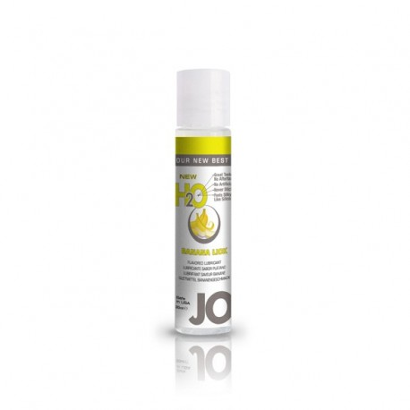 Lubrykant smakowy wodny - System JO H2O Lubricant Banana 30 ml, Banan