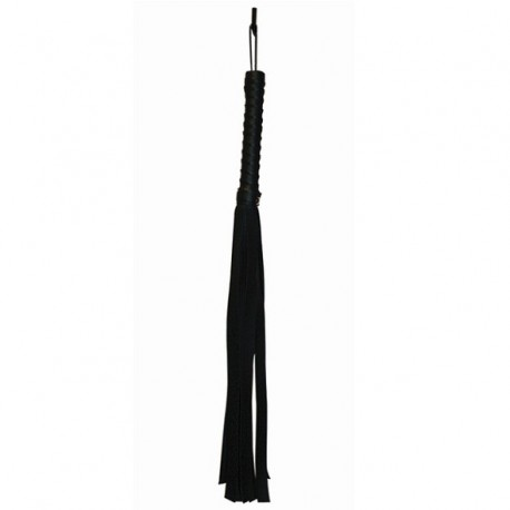 Pejcz skórzany - S&M Black Faux Leather Flogger