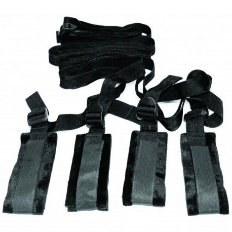 Zestaw do bondage na łóżko - S&M Bed Bondage Restraint Kit