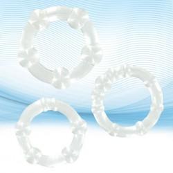 XLsucker - Trzy pierścienie na penisa - Beaded Cockrings