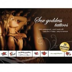 """Tattoo Set - Zestaw seksownych, zmywalnych tatuaży """"Bogini Seksu"""" - Sex Goddes"""