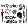 Tattoo Set - Zestaw seksownych, zmywalnych tatuaży Punkowe - Punk Bitch