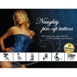 Tattoo Set - Zestaw seksownych, zmywalnych tatuaży na rękę - Naughty Pin-Up