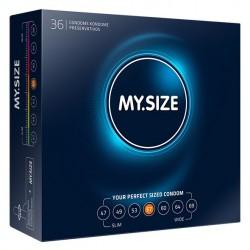 My Size. Prezerwatywy na wymiar - rozmiar 57 - 36 sztuk