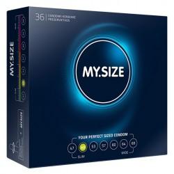 My Size. Prezerwatywy na wymiar - rozmiar 49 - 36 sztuk