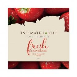 Środek nawilżający - Intimate Earth Oral Pleasure Glide Fresh Strawberries Foil 3 ml SASZETKA