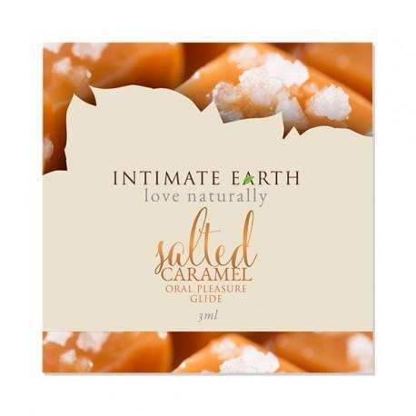 Intimate Earth - Oral Pleasure Glide Salted Caramel Foil 3 ml SASZETKA