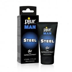 Żel intymny dla panów - Pjur Man Steel Gel 50 ml