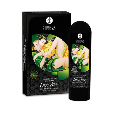 Żel stymulujący dla par - Shunga Lotus Noir Sensitizing Gel