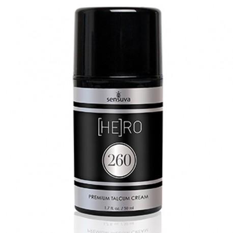Krem do pielęgnacji męskiej - Sensuva HE(RO) 260 Talcum Cream For Men 50 ml