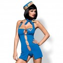 Kostium stewardessa - Obsessive Air Hostess Costume Blue L/XL