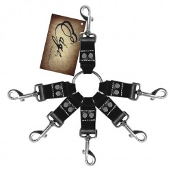 Zestaw do krępowania - Sportsheets Edge Leather 6 Point Hog Tie
