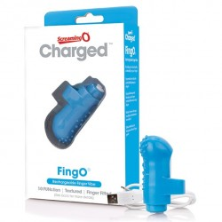 Wibrator na palec - The Screaming O Charged FingO Finger Vibe Blue