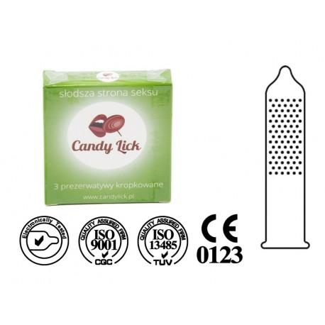 Prezerwatywy Candy Lick kropkowane