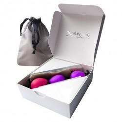 Zestaw kulek gejszy - Joydivision Joyballs Secret Set (Magenta & Black and Lila & Black)