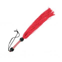 Średni, gumowy bicz - S&M Medium Rubber Whip Red