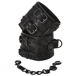 Kajdanki - Sportsheets Sincerely Lace Double Strap Handcuffs