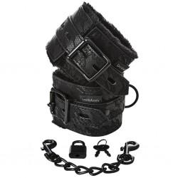Kajdanki - Sportsheets Sincerely Lace Fur Lined Handcuffs