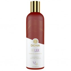 Olejek do masażu - Dona Essential Massage Oil Relax Lavender & Tahitian Vanilla 120 ml