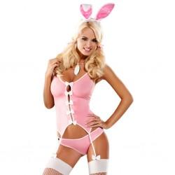 Strój króliczka - Obsessive Bunny Suit Costume S/M